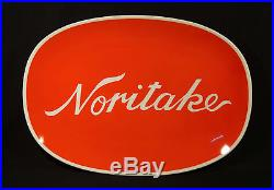Vintage Lage Advertising Noritake Wall Plaque Platter Department Store Fixture