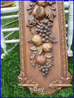 Vintage Large 41 Syroco Wall Plaque Retro Mid Century grapes fruit
