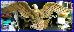 Vintage Large Syroco (1963) American Eagle with Shield Wall Plaque #3762 45 x 18