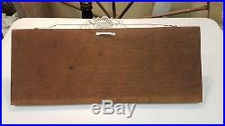 Vintage Large Wooden HALF HULL SHIP / BOAT Model Wall Plaque Handcarved