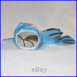 Vintage Lefton ESD Bluebird Wall Pocket Plaque Blue Bird Anthropomorphic Kitsch