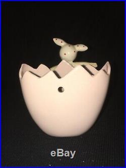 Vintage Lefton Egg Planter Easter Bunny Pixie Girl Wall Pocket Plaque Ballerina