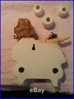 Vintage Lefton GIRL IN BATHTUB with BUBBLES WALL PLAQUE