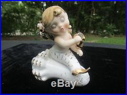 Vintage Lefton Mermaid, G/g With Mermaid Wall Plaques Rare Find