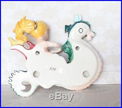 Vintage Lefton Mermaid Riding Seahorse Wall Plaque Final days to order