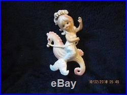 Vintage Lefton Mermaid Riding Seahorse Wall Plaque No. 7080