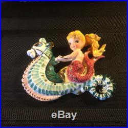 Vintage Lefton Mermaid on Seahorse Wall Plaque