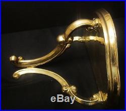 Vintage Maitland-Smith Polished Brass Wall Shelves Set of 2