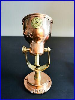 Vintage Man O War Copper Bunk Light / Brass Wall Sconce