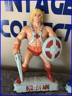 Vintage Mattel 1984 He-Man and Skeletor Wall Plaques Hangings Collectibles
