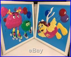 Vintage McDonald's Birdie Fry Kids Plastic Wall Hanging Plaques NOS Original Box