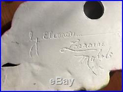 Vintage Mermaid Beauty Ceramic Eleanor Lorraine Molds Wall Plaque MID Century