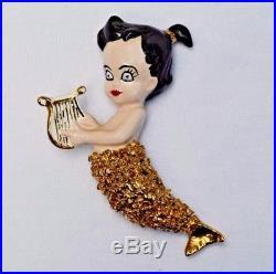 Vintage Mermaid Mom & Baby Figurine Wall Plaque Hanging Set Bathing Beauties
