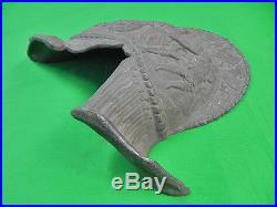 Vintage Metal Decorative Wall Plaque Helmet
