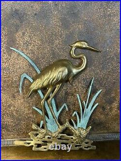 Vintage Mid Century C Jere Pelican Bird Brass Wall Art Sculpture MCM Signed