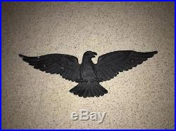 Vintage Mid Century Cast Metal American Eagle Plaque / Wall Hanging