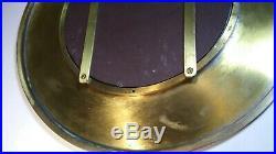 Vintage Mid Century Modern Art Deco 15 Brass Wall Hanging Accent Vanity Mirror