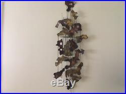 Vintage Mid Century Modern Brass/Copper hand made Wall Sculpture/Metal Sculpture