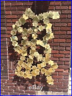 Vintage Mid Century Modern Brutalist Abstract 3D Brass Wall Sculpture Jere