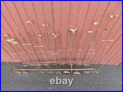 Vintage Mid Century Modern Curtis Jere sculpture brutalist metal art wall Eames