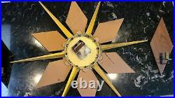 Vintage Mid Century Modern VERICHRON Starburst W Candle Holders Wall Clock RARE