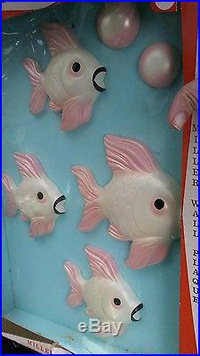 Vintage Miller Wall Plaque Decoration Hand Painted Chalkware Fish New Fab