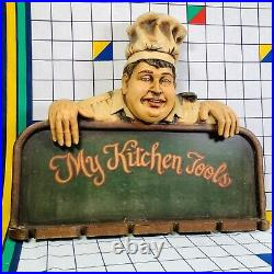 Vintage My Kitchen Tools Chef Cook Retro Kitchen Wall Art Sign 3D Moulded Resin