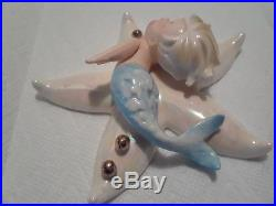 Vintage NORCREST Merboy on Starfish Wall Plaque Hanging