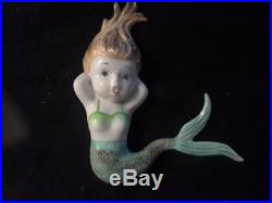 Vintage Napco/ Norcrest Ceramic MERMAID Wall Plaque Figurines