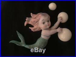 Vintage Napco/ Norcrest Ceramic MERMAIDS Wall Plaque Figurines