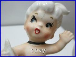 Vintage Norcrest Japan Ceramic Wall Plaque Figurine Mermaid Riding Fish P697