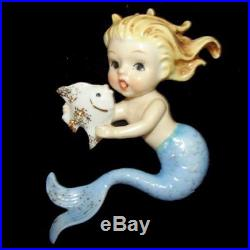 Vintage Norcrest MERMAID SISTER WALL PLAQUES