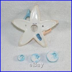 Vintage Norcrest Mermaid Star Fish Wall Plaque Merboy 1950s Bathroom Decor JAPAN