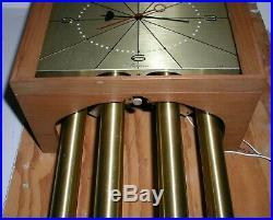Vintage Nutone Doorbell Door Chime Wall Clock 4 Tube Mid Century Modern L59N