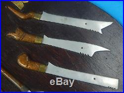 Vintage Old Wall Plaque Decor Set Philippines Moro Kris Decorative Knife Dagger