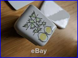 Vintage PICKNICK Rorstrand Sweden Wall Plaque Cheese Board and Butter Dish MCM