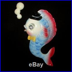 Vintage PY FISH Wall Plaque Hanging for Mermaid Decor Very Colorful