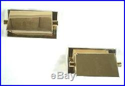 Vintage Pair Of MID Century Modern Style Brass Triangle Wall Sconces