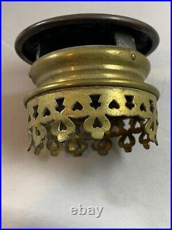 Vintage Pair Of Railway Train Carriage Wall Sconces Candle Brass Glass PLR Paris