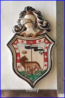 Vintage Palio di Siena Italy Ceramic Horse Race Crest Set of 7 Wall Plaques