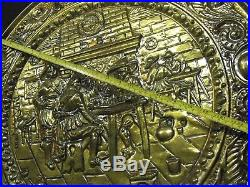 Vintage Peerage Brass Wall Plaque 24'' Original England