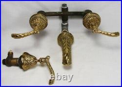 Vintage Phylrich Baroque Gold/Brass Wall Bathtub Clawfoot Tub or Sink Faucet