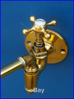 Vintage Pot Filler Tap Brass Wall Mounted Faucet Shanks Filter