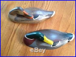 Vintage R. Madison Mitchell Sleeper Mallord Decoy Duck Wall Plaques signed 1966
