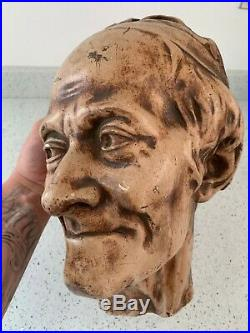 Vintage RARE Voltaire face mask death mask life size statue bust wall plaque