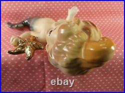 Vintage Rare Doll Like Mermaid Wall Plaques Set Of 2 Holding Gold Starfish Japan