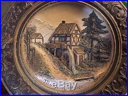Vintage Rare, Switzerland Wall Plaque OLD! Signed! 1/Of A Kind Muhle Im Walde