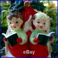 Vintage SISTER Girl Angels in Christmas Stocking Wall plaque gift for sister