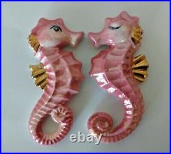 Vintage Seahorse Wall Plaques Ceramic for Fish Bath Decor