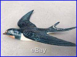 Vintage Set Of Three Beswick 757 Swallow Bird Wall Plaques